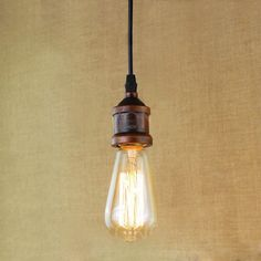 Vintage Retro Filament Pendant Light For Bar Cafe Living Room Decoration Eddison Bulb Kits Rust Cheap Pendant Lights, Pendant Lighting, Lampe Led, Led Lamp, American Retro, Office Lamp, Style Loft, Mason Jar Lamp, Light Bulb