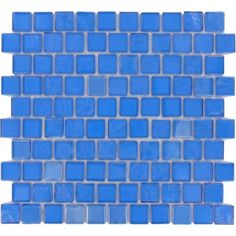 "Cobalt 1"" x 1"" Blue Glossy Glass Tile"