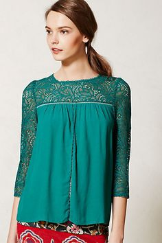 Lace Cloaked Blouse -- dying over this pretty!