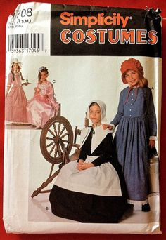 Little House on the Prairie Costume Sewing Pattern - Puritan Centennial Colonial Dress - LAST ONE! SOLD!