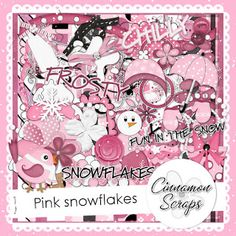 """Hi there, I'm back with a new kit I've just finished, called """"Pink Snowflakes"""". Aesthetic Gif, Aesthetic Backgrounds, Aesthetic Wallpapers, Cute Goth, Editing Background, Pink Themes, Scrapbook Designs, Background Templates, Printable Paper"""