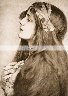 My Bohemian History Eickemeyer photo of Evelyn Nesbit India, don't you think she looks a lot like Emily? Evelyn Nesbit, Vintage Gypsy, Vintage Beauty, Vintage Hair, Belle Epoque, Foto Portrait, Portrait Photography, Wedding Photography, Image Digital