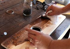 "#diy distressing wood GREAT tips on here including splintering the wood so it looks even more ""vintage"""