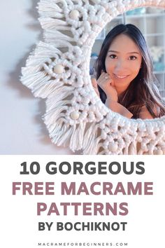 Do you want to learn how to make gorgeous Macrame wall hangings, bags, and the cutest baby nursery projects? Then you'll love Bochiknots amazing free projects and tutorials! Run by self-taught Macrame artist Nicole from Calgary, Canada, this Youtube Channel is just what you need to improve your #Macrame skills! I'm so happy and honored I had a chance to talk to Nicole and ask her all about her journey into becoming such a talented Macrame teacher. #macrameforbeginners #macramepatterns Macrame Tutorial, Diy Tutorial, Macrame Patterns, Cute Babies, Improve Yourself, Nursery, Teacher, Learning, Free