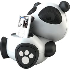 Electric Friends Sing Sing The Panda Speaker Docking Station for iPod and iPhone Panda Love, Cute Panda, Panda Kawaii, Ipod Speakers, Ipod Dock, Take My Money, Gadget Gifts, Docking Station, Cool Things To Buy