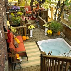 Small Deck with Colorful Accents