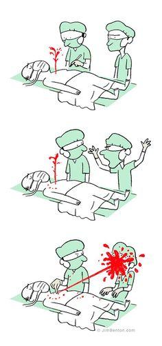 160 Funny Comics By Jim Benton Medical Quotes, Medical Art, Medical Humor, Nurse Humor, Medical Field, Medical School, Morbider Humor, Am Laufenden Band, Surgery Humor