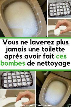 Vous ne laverez plus jamais une toilette après avoir fait ces bombes de nettoyage #nettoyant #bombes #cleaner #cleaning#bombe #toilette