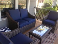 The Target Threshold Belvedere Patio Set On My Front Porch This Comes In A