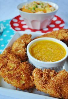 Polędwiczki w kokosie i kurczak słodko kwaśny.