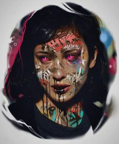 Colored Tattoo Design, Colour Tattoo, Ink Master Tattoos, Girl Tattoos, Potrait Tattoo, Arte Cholo, Japanese Tattoos For Men, Studio Photography Poses, Trash Polka Tattoo