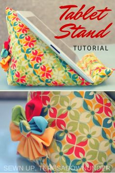 Easy Sewing Projects to Sell - Ipad Stand Tutorial - DIY Sewing Ideas for Your Craft Business. Make Money with these Simple Gift Ideas, Free Patterns, Products from Fabric Scraps, Cute Kids Tutorials Sewing Hacks, Sewing Tutorials, Sewing Crafts, Sewing Tips, Tutorial Sewing, Purse Tutorial, Dress Tutorials, Sewing Basics, Diy Tutorial