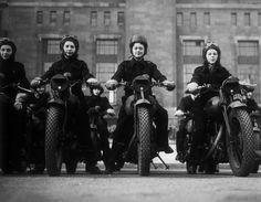 vintage women ride motorbike 13