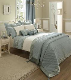 Bedroom Design Ideas Duck Egg Blue duck egg blue and brown bedding for couple bedroom decorating