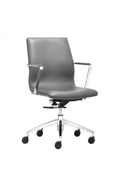 206152 - HERALD LOW BACK OFFICE CHAIR GRAY