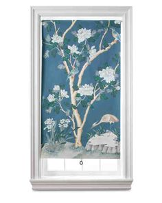 A length of wallpaper is all it takes to turn a plain roller shade into a work of art -- complete with its own frame. This is a great way to display a very special piece, a favorite vintage paper, or a remnant. You can tie the room together with a pattern that echoes an existing motif, or build a head-to-toe look by using the same paper that's on the walls.