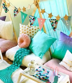 Sleepylily create the ultimate sleepover party for you and your guests. Indoor tents decorated in your chosen party theme make this an extra special event to remeber forever! Madonna Birthday, 5th Birthday, Birthday Ideas, Birthday Parties, Indoor Tents, Fantasy Party, Teepee Party, Personalised Bunting, Party Themes