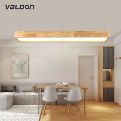 A1 Restaurant lamp chandelier wood Nordic NEW rectangular bar Japanese LED solid wood office Chandelier