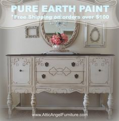 Welcome to Attic Angel Furniture Company where we hand pick and build farmhouse style furniture for you. White Buffet, Farmhouse Style Furniture, White Painted Furniture, Antique Buffet, Sideboard Buffet, Walnut Stain, Guest Bedrooms, Furniture Companies, White Paints