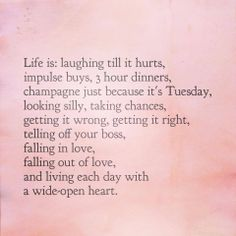 Life is.... <3