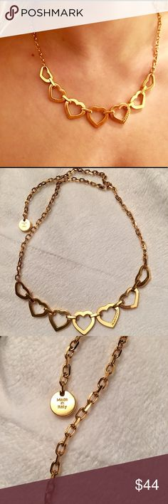 Gold Rebecca Minkoff Necklace Made in Italy! Beautiful gold Rebecca Minkoff necklace is made in Italy. Great condition only worn 3 times. Adjustable length and secure clasp. Rebecca Minkoff Jewelry Necklaces