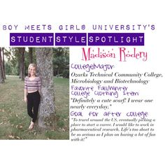 """BMGU Student Style Spotlight: Meet Madison!"" by boymeetsgirlusa on Polyvore"