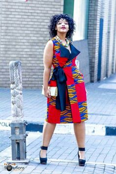Beautiful sleeveless ankara jacket styles for big and beautiful ladies, african ankara jackets without sleeve for curvy and thick ladies, sleeveless abkara jackets for plussize big and beautiful thick curvy ladies African Fashion Ankara, African Inspired Fashion, African Print Fashion, Africa Fashion, Ankara Dress Styles, African Print Dresses, African Dress, African Attire, African Wear