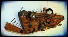 Mutoz inc. Art en bois flotté: USS Arronax, création en bois flotté Steampunk