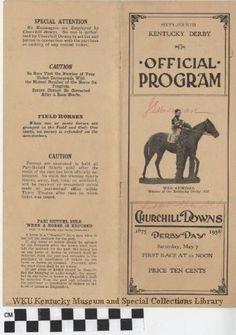1938 Kentucky Derby Official Program