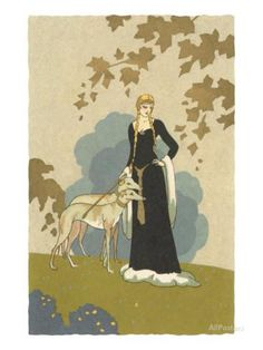 Princess with Whippets Posters - AllPosters.co.uk