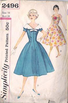 Simplicity 2496 - dresses c1958