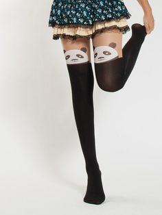 Spring collection - Japanese kawaii panda tights $11 #asianicandy #panda #cutetights