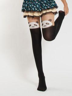 Spring collection - Japanese kawaii panda tights $11 #asianicandy #panda #cutetights