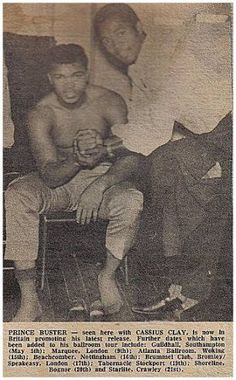 Prince Buster was a handy pugilist (as wali Ali! Prince Buster, Top Tv Shows, Jamaican Music, The Music Man, Al Capone, Rude Boy, African Artists, Reggae Music, Black History