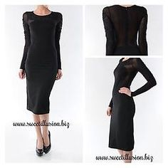 www.sweetillusion.biz Perfect bodycon dress. See-through inserts makes this dress pop