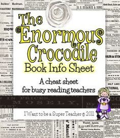 The Enormous Crocodile Book Info Sheet Freebie Vocabulary Strategies, Comprehension Strategies, Reading Groups, Guided Reading, The Enormous Crocodile, Roald Dahl Day, Book Study, Word Work, Book Activities