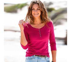 Tričko s tuniským výstřihem   vyprodej-slevy.cz #vyprodejslevy #vyprodejslecycz #vyprodejslevy_cz #tshirt Tops, Women, Fashion, Moda, Women's, La Mode, Shell Tops, Fasion, Fashion Models