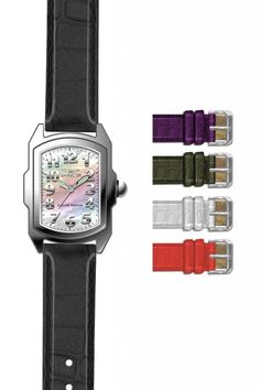 cc11ad7c177 Invicta Lupah Womens Swiss Movement Quartz Watch - Stainless Steel case  with Black tone Leather band - Model 13112