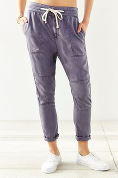 BDG Amelia Pants trousers navy 59;-- Urban Outfitters housut lyocell