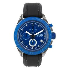 Fossil Men's CH2784 Silicone Analog with Blue Dial Watch Fossil. $64.00. Scratch resistant mineral. Water-resistant to 100 Meters(330 feet). Analog quartz movement. Case diameter: 44. Resin case. Save 39%!