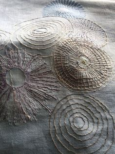 A Sunday in Toronto and a Silvery Hour in Florida — Christine Mauersberger - Stickerei Ideen Sashiko Embroidery, Japanese Embroidery, Modern Embroidery, Embroidery Applique, Embroidery Stitches, Embroidery Patterns, Machine Embroidery, Cross Stitches, Machine Quilting