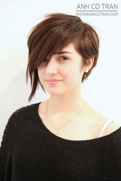 asymmetrical cut, youth short hairstyle
