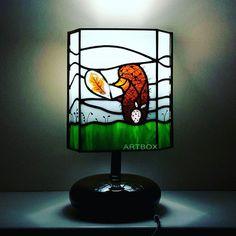 - Ты когда-нибудь слушал тишину, Ёжик? - Слушал. - И что? -А ничего. Тихо. #светильник #ежиквтумане #стекло #витраж #тиффани #подарки #sova #artboxsova #artboxglass #stainedglass #glass #glassart #art