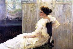 """Amalia Romea, Señora de Laiglesia"" (1897) by Joaquin Sorolla y Batisda (1863-1923)."