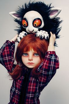 bjd headhanger by illusionwaltz, via Flickr // Ball Joint Doll BJD