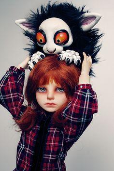 bjd headhanger by illusionwaltz, via Flickr // Ball Joint Doll BJD