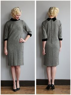 1960s Dress // Tweed Sheath Dress // vintage by dethrosevintage