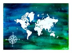 Watercolor oceans