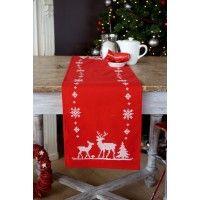 In questa magnifica tovaglietta centro tavola troviamo l'eleganza del classico rosso di Natale unita alla semplicità del ricamo monocolore. Si completa a punto croce su stoffa pre-stampata, già...