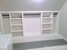 Image result for built in bookcase sloped ceiling